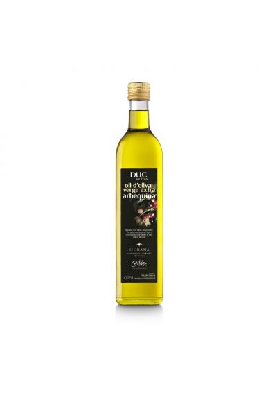 OLI D'OLIVA ARBEQUINA DUC DE FOIX - ampolla vidre 3/4 L.